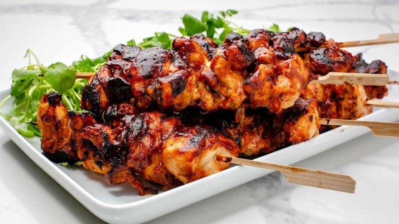 Sticky BBQ chicken tenders