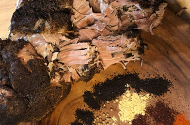 coffee-rubbed pulled pork