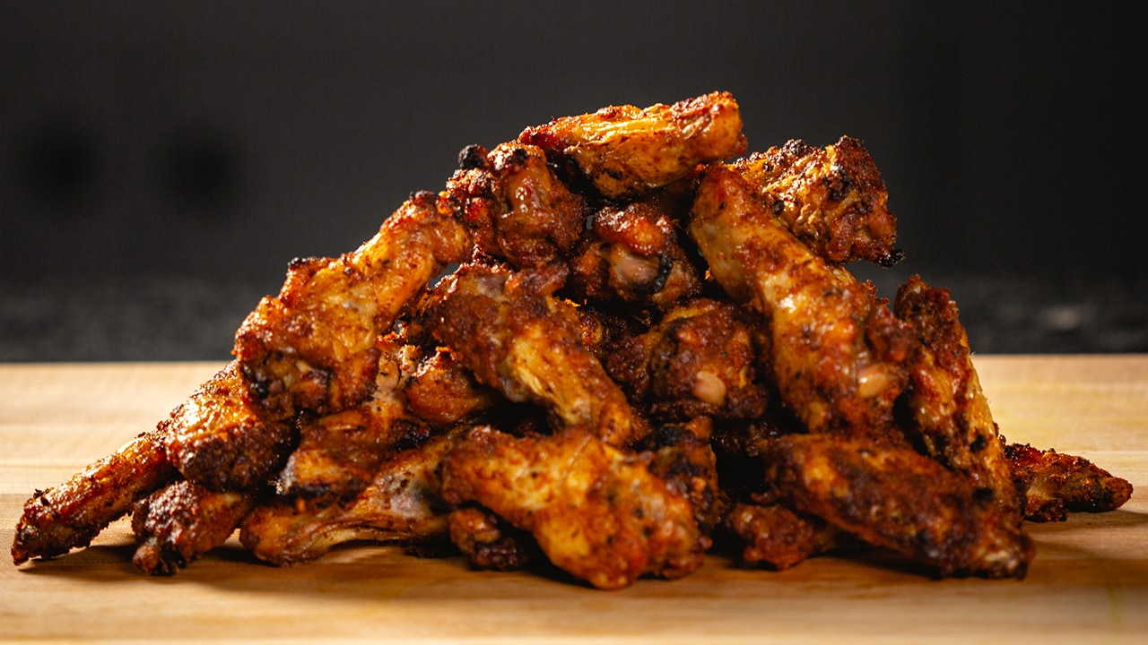 a pile of buffalo chicken wings