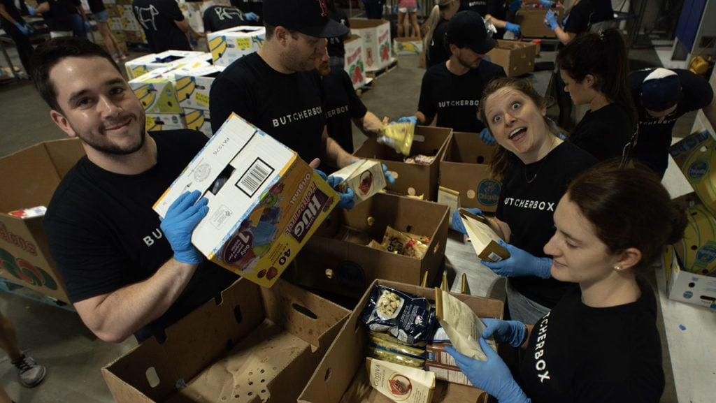 ButcherBox helping at the Greater Boston Food Bank