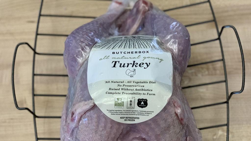 turkey on a rack