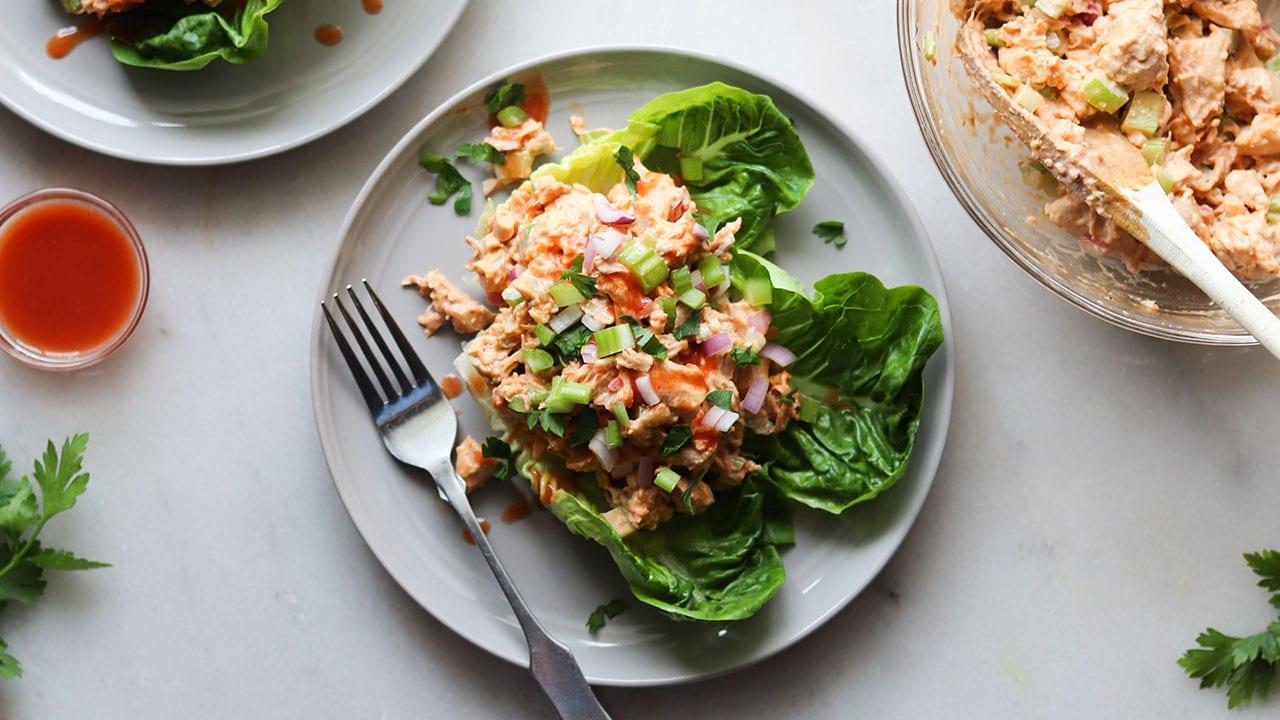 buffalo chicken salad on a plate