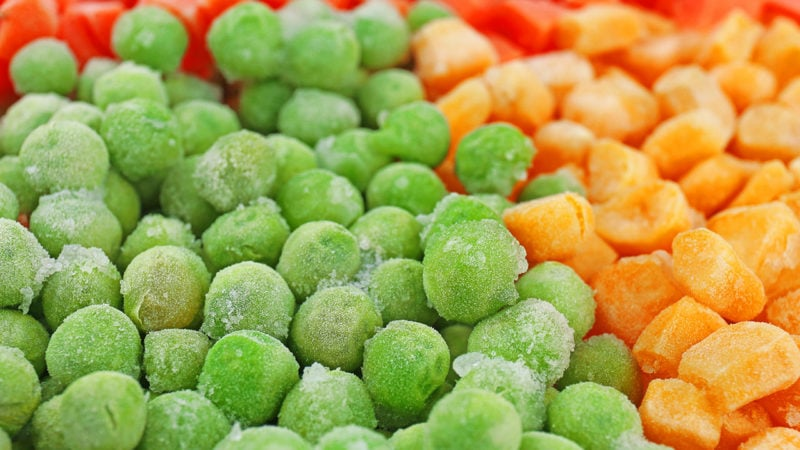 frozen peas and squash