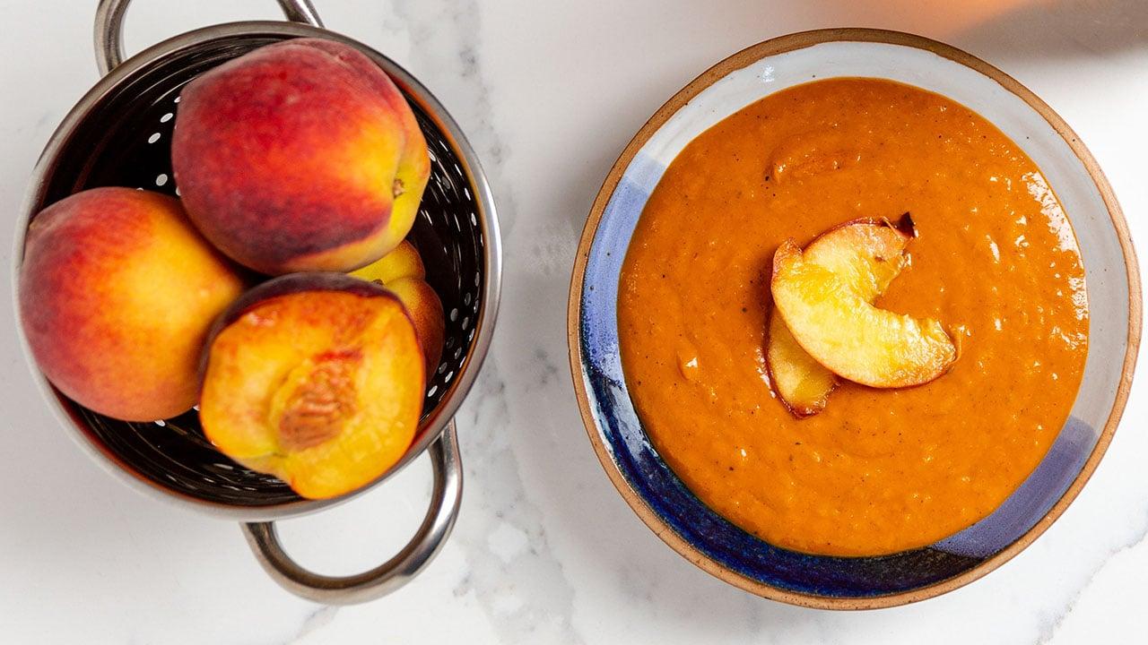 peaches and peach bbq sauce