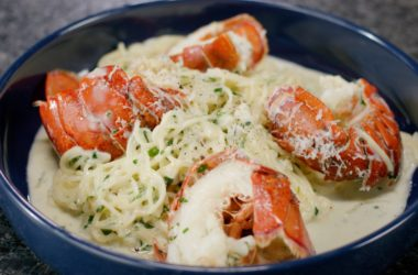 brown butter and limoncello lobster tail pasta