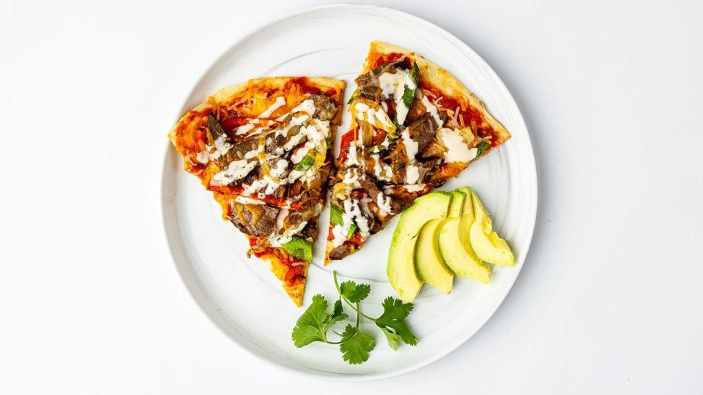 pizza with butcherbox complete fajita strips